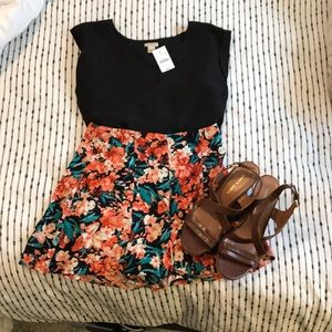 Urban Outfitters black floral shorts!